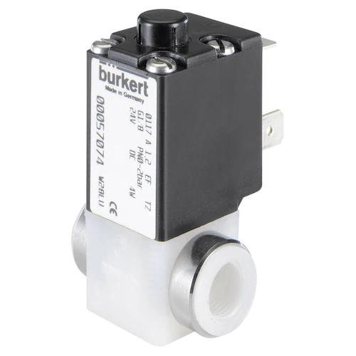 0117 PLUNGER SOLENOID VALVE WITH SEPERATING DIAPHRAGM