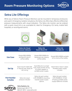 Setra Lite Portable Room Pressure Kit